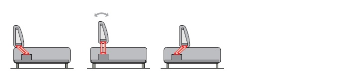 Backrest mechanism PB 033-1