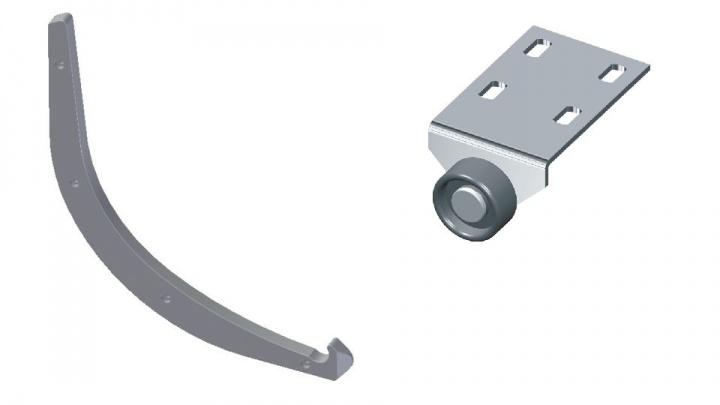pohištveno kolo AR 117-1 in vodilo TP 003-2