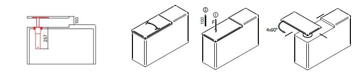 Table mechanism MK 082-A-8